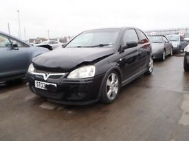 2003 VAUXHALL CORSA C SXI SRI BREAKING BLACK Z20R DOOR BONNET ALLOYS MIRRORS