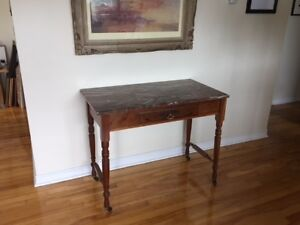 Antique Red Marble Top Writing Desk