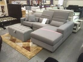 NEW - MODERN SUITES/CORNER SOFAS - LEATHER / MATERIAL - SOLID FRAMES - LOOK NOW - DELIVERED FAST