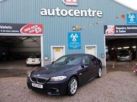 BMW 5 SERIES 2.0 520D M SPORT 4d AUTO 181 BHP diesel auto (black) 2012