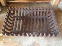 Iron fire basket grate large