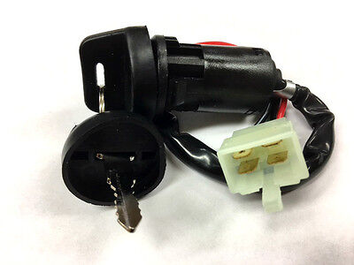 E-TON 4 WIRE IGNITION KEY BARREL SWITCH WITH 2 X KEYS QUAD ATV VIPER SOLAR