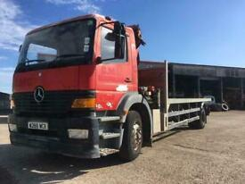 2000 Mercedes Atego 1823 Day Cab 18 Ton 24ft Flatbed Fitted Palfinger PK9501