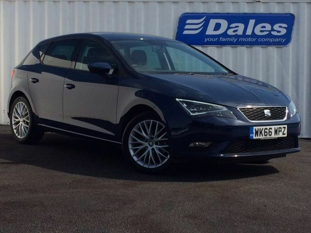 Seat Leon 1.6 TDI 110 SE Dynamic Technology 5dr (blue) 2016