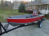 14FT LUND DEEP-V ALUMINUM USED BOAT!DOUBLE RIVITED!$1995