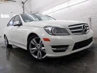 2012 Mercedes-Benz C300 4MATIC BLANC AMG PKG CUIR TOIT 64,000KM