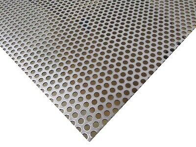 Perforated Staggered Steel Sheet .075 Thick X 24 X 24 .250 Hole Dia.
