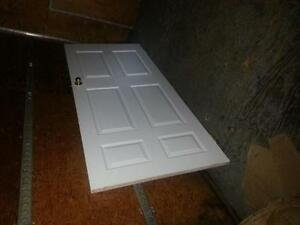 """36"""" Interior Door with Hinges and Knob."""