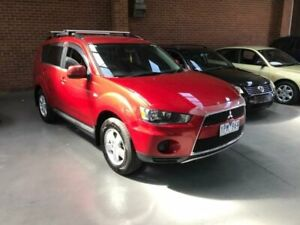 2011 Mitsubishi Outlander ZH MY11 LS Red 6 Speed CVT Auto Sequential Wagon Dandenong South Greater Dandenong Preview
