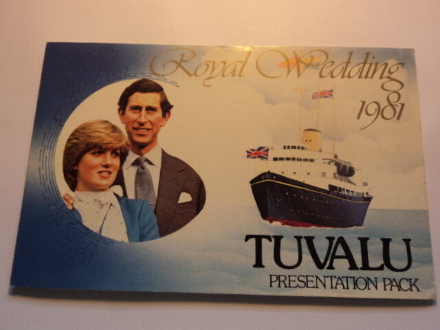 Tuvalu Stamp presentation pack Royal wedding 1981