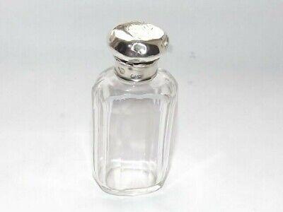 ANTIQUE EDWARDIAN SOLID SILVER STERLING LID GLASS BOTTLE, GLASS JAR LONDON c1900