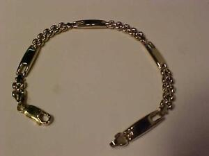 "#3339- Beautiful 10k y/gold bracelet 7 1/2"" long and weighs 7.00 grams of 10k-FREE S/H IN CANADA ONLY-C.P. EXPRESS.MAIL"