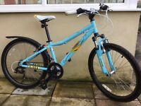 Girl's turquoise blue Mongoose Rockadile mountain bike
