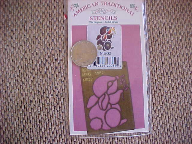 AMERICAN TRADITIONAL BRASS STENCIL Rabbit SALE - $4.00