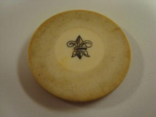 Circa 1880s Old West Fleur De Lis Poker Chip
