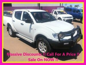 2012 Mitsubishi Triton MN MY12 GLX (4x4) White 5 Speed Manual 4x4 Double Cab Utility Dubbo Dubbo Area Preview