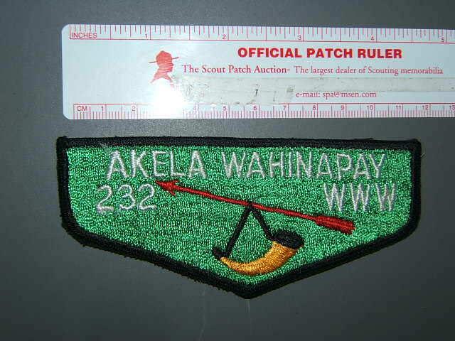 Boy Scout OA 232 Akela Wahinapay flap 0516O