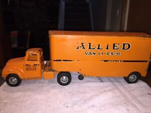 tonka allied van cab/trailer early fifties