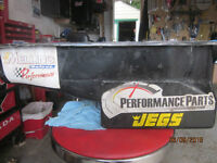 used jegs sbc oil pan 1 peice rear main seal pass side dip stick
