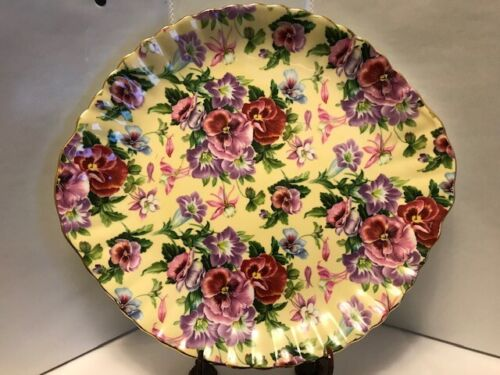 "Royale Garden Staffordshire Chintz Collection Plate 10.3""X 9.8"".-C25.00"