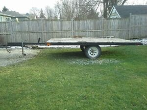 8 x 12 tilt trailer with 3500 lb tortion axels