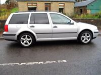 Mk4 Golf tdi, Silver 5 speed, Air con, 6 disc Cd changer, Privacy tint, Tow bar, 10 mth mot