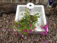 WHITE SQUARE SINK FOR GARDEN PLANTS POTS ETC