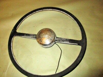 1950 Ford Car Steering Wheel & Horn Button Wall Hanger- Mancave / Ratrod