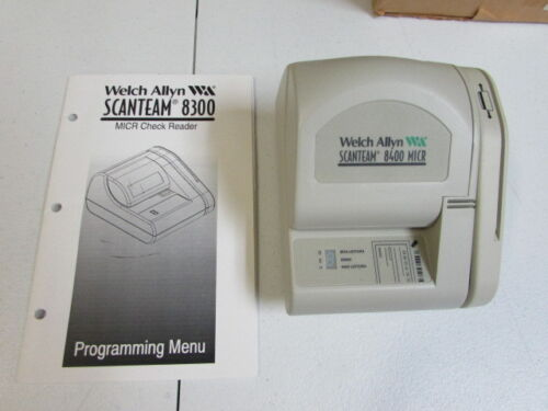 Welch Allyn 8400 MICR credit card check scanner w/ manual - 8400/V - NEW! USA
