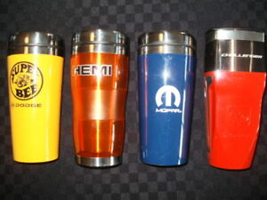 Set of 4 Mopar Highly Collectible Travel Mugs