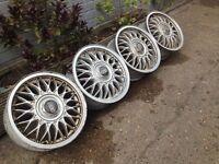 "BBS 4x100, 15"", 6J. Alloy wheels, deep dish Original Made in Germany, not borbet"
