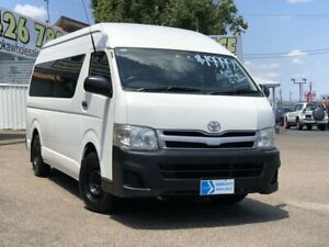 2010 Toyota HiAce KDH223R MY10 Commuter High Roof Super LWB White 4 Speed Automatic Bus Moorooka Brisbane South West Preview