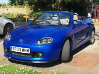 MG TF 135 Sprint. Immaculate throughout. Enthusiast owned. Full Service History. Low mileage