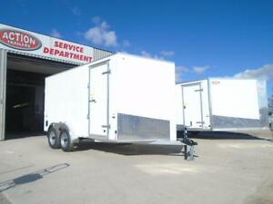 LOWEST PRICED 7X14' ALL ALUMINUM CARGO TRAILER W/RAMP DOOR WOW! London Ontario image 2