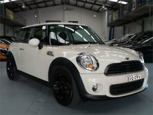 2011 Mini Cooper R56 MY11 Pepper White 6 Speed Automatic Hatchback Seven Hills Blacktown Area Preview