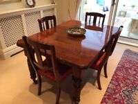 Mid-Victorian Dining Table and Six Chairs