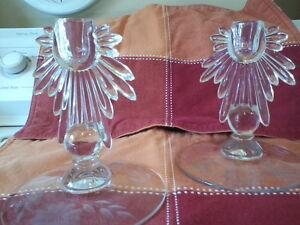 Vintage Pair Hughes Candleholders London Ontario image 1