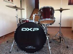 Drum Kit 5 piece DXP Deep Cherry Red Church Point Pittwater Area Preview