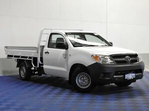 2006 Toyota Hilux TGN16R 06 Upgrade Workmate White 5 Speed Manual Cab Chassis Jandakot Cockburn Area Preview