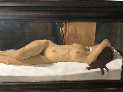 """Neale Worley British Born 1962 Painting """"Nude"""" dated and signed 1998"""