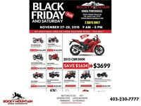 SALE!  BLACK FRIDAY AND SATURDAY - ROCKY HONDA - SALE!