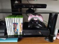 Xbox 360 pink controller chrage dock games