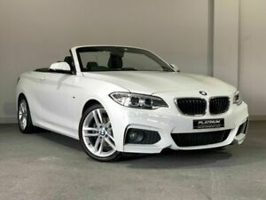 2015 BMW 2 Series F23 220i M Sport White 8 Speed Sports Automatic Convertible Bayswater Bayswater Area Preview