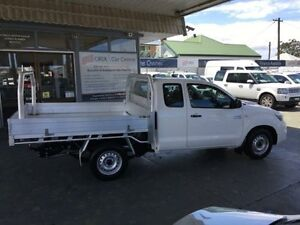 2012 Toyota Hilux KUN16R MY12 SR White 5 Speed Manual 2D CAB CHASSIS Hamilton Newcastle Area Preview