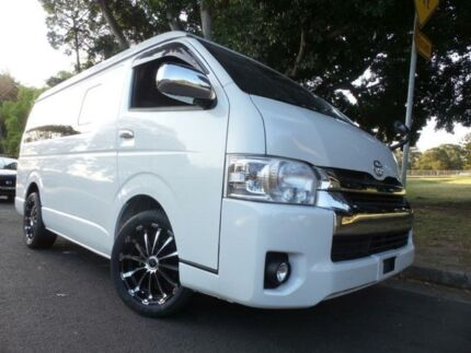 2015 Toyota Hiace 10 Seater LWB GL Low Roof Wide Body White Automatic Wagon