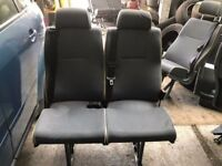Coach seats, 3x double seats, 6x single seats, bolt onto van floors