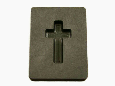 1 Oz Custom Cross Gold High Density Graphite Mold Silver Necklace 1-716