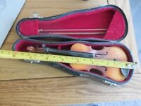violin Miniture with case inc bow 8inch long