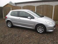 2007 PEUGEOT 307 S 1.4 16V 3 DR, MOT UNTIL NOVEMBER 2017!