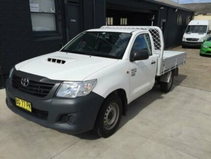 2012 Toyota Hilux KUN16R MY12 Workmate White 5 Speed Manual Cab Chassis Mortdale Hurstville Area Preview